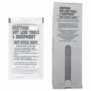 Hastings 10-188 Hot Stick Wipes