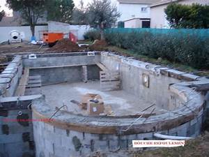 piscine en beton arme agglos a bancher 27 maconnerie With piscine en agglos creux