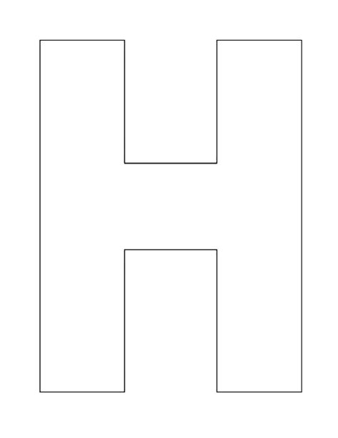 letter h template preschool printable printable alphabet letter h worksheets 422