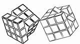 Cube Coloring Rubiks Minecraft Pages Rubik Imaginative Children Fun sketch template