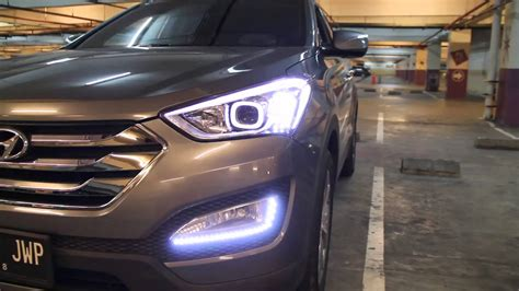 full led headlight  foglight   hyundai santa fe