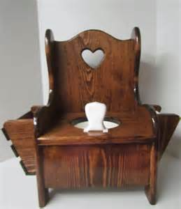 wooden potty chair for toddler with heart book by