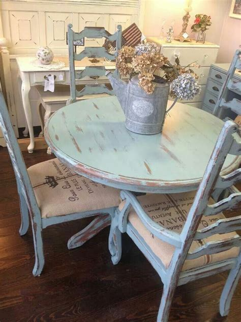 of cottage green shabby chic furniture chalk paint 1 litre distressed pale blue shabby table and chairs forgotten Best