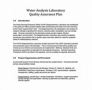 12 quality assurance plan templates free sample With sample quality assurance plan template