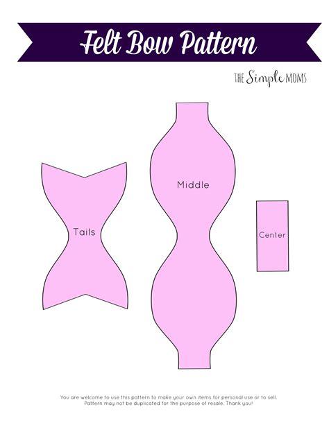 felt bow template diy felt bows printable pattern tutorial the simple