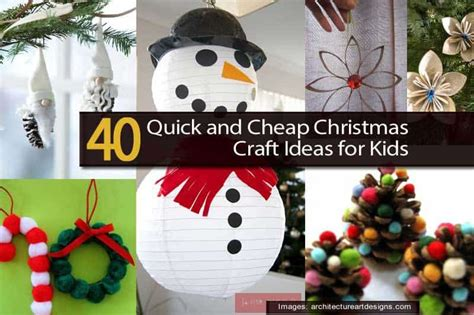 quick  cheap christmas craft ideas  kids
