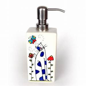 Pompe A Savon : pompe savon ou lotion en porcelaine chat peint la main par l 39 artiste peintre du qu bec ~ Teatrodelosmanantiales.com Idées de Décoration