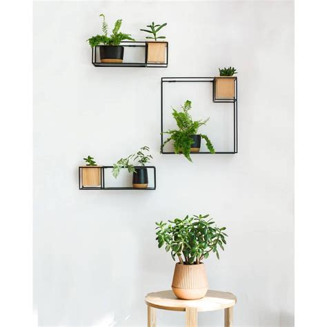 small hanging shelf cubist small wall shelf black umbra design is this