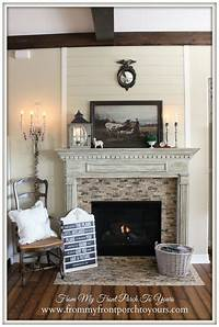 great country fireplace mantel style French Country Mantel | Diy wood, Front porches and Mantels