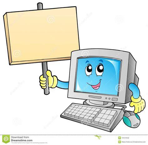 ordinateur de bureau blanc ordinateur de bureau avec le panneau blanc illustration de