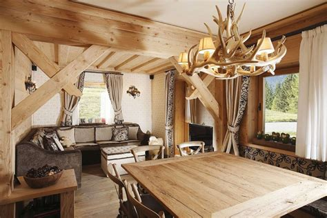 rustic home interior design rustic alpine apartment with wood elements