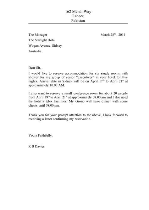meeting  reservation letter