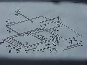 Mercedes Benz 2000 Sunroof Parts Diagram
