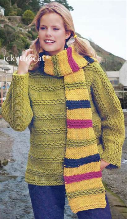 Knitting Jumper Sweater Ladies Pattern Scarf Digital
