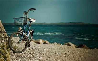 Wallpapers Bicycle Background Screen Sea Water Bike