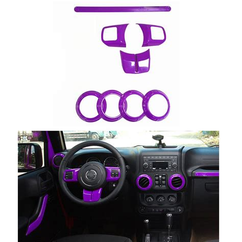purple jeep interior purple inner accessories frame cover trim 8pc for jeep