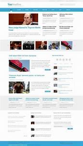 youheadline news magazine joomla template With news site template free download