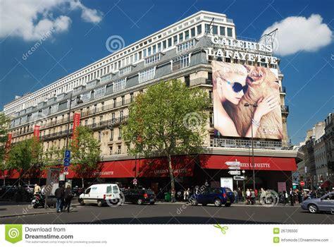galeries lafayette siege social galeries lafayette in editorial image image 26726500