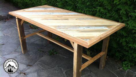 fabricant de chaises de cuisine fabrication d 39 une table solide en bois de récupération