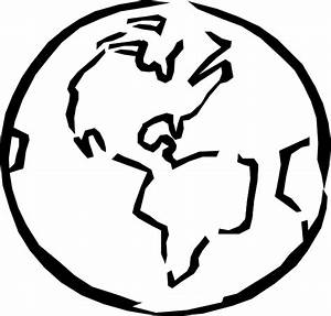 Black And White Earth Clip Art at Clker.com - vector clip ...