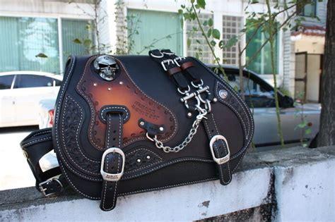 Hand-made Custom Skull Saddlebag Leather Saddle Bag