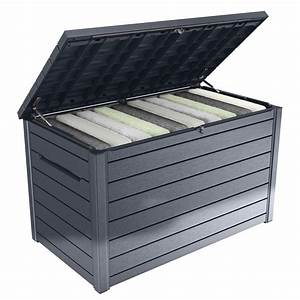 Keter 870L Ontario Outdoor Storage Box Bunnings Warehouse