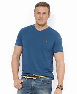 Polo V : polo ralph lauren big and tall classic fit v neck short sleeve cotton jersey t shirt in blue for ~ Gottalentnigeria.com Avis de Voitures
