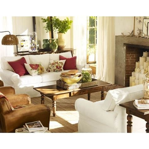 living room pottery barn via polyvore living room