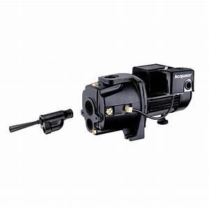 Acquaer 1 Hp Dual Voltage Cast Iron Convertible Jet Pump