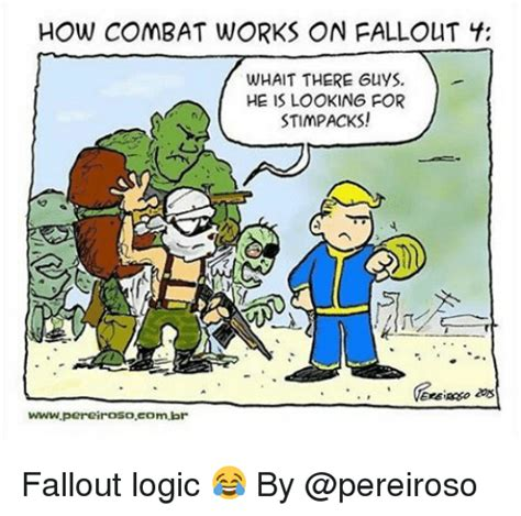 How Combat Works On Pallout F Whait There Guys He Is