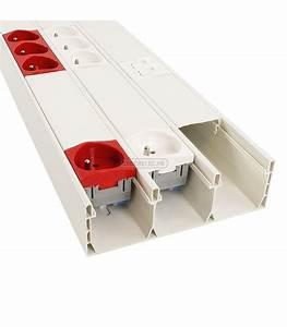 Goulotte Electrique Avec Prise : goulotte lectrique blanche 160x50mm appareillable 45x45 carton de 4 m tres destockable ~ Mglfilm.com Idées de Décoration