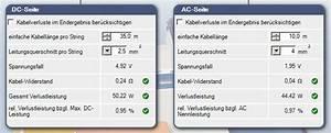 Kabelquerschnitt Gleichstrom Berechnen : kabelverluste einer photovoltaik anlage ermitteln und minimieren ~ Themetempest.com Abrechnung