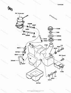 Kawasaki Atv 1986 Oem Parts Diagram For Fuel Tank