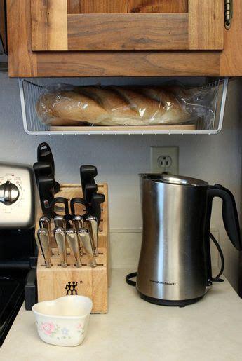 cabinet bread basket kitchen counter storage