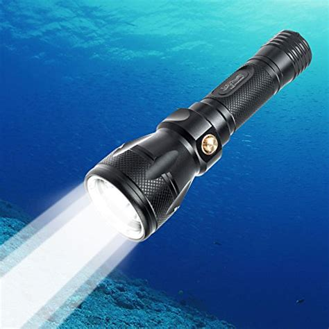scuba diving led flashlight turnraise lm xm  led