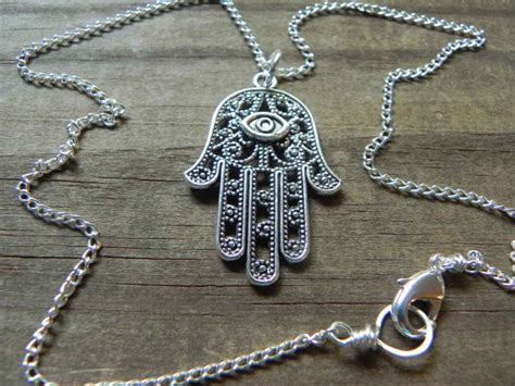 Crystal Carpets by Hamsa Pendant Necklace Hand Of Fatima Necklace By Adrianasoto