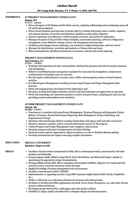 Management Consultant Resume by Project Management Consultant Resume Sles Velvet