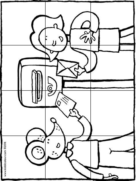 Kleurplaat Je Eien Zeepbel by Und Beim Briefkasten Kiddimalseite