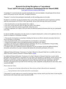 debriefing consent form deception studies