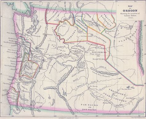 Map Of Oregon Tribes