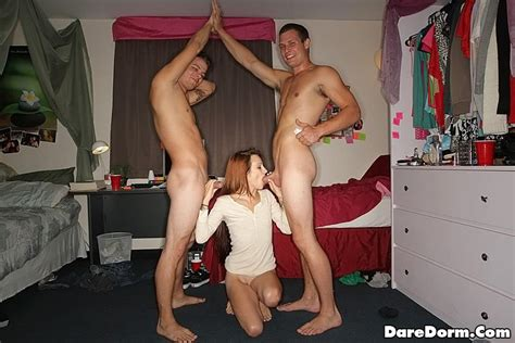 Redhead College Girl Puts Out At A Dorm Party Coed Cherry