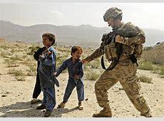 FileUS Soldier plays with Afgan kidjpg Wikimedia Commons