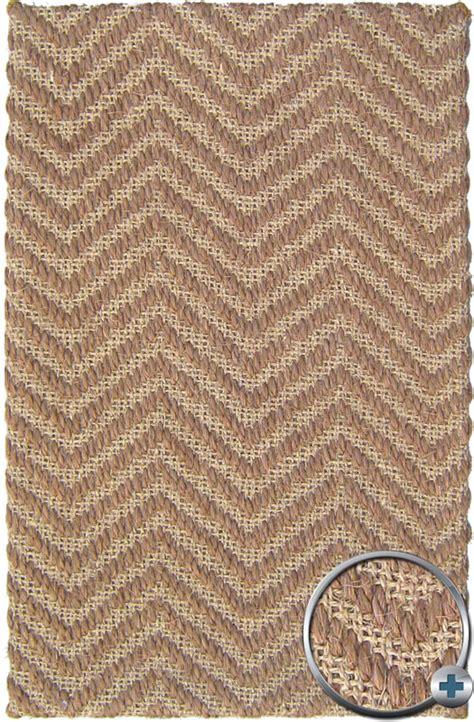 Brown Natural Sisal Outdoor 3x5 Carpet Chevron Modern Area