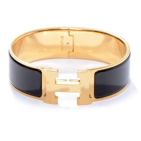 hermes enamel clic clac h bracelet pm wide black 50122