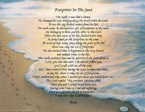 Poem Footprints Sand