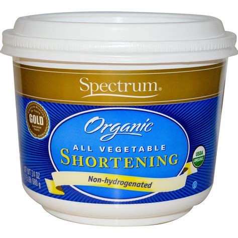 what is shortening spectrum naturals organic all vegetable shortening 24 oz 680 g iherb com