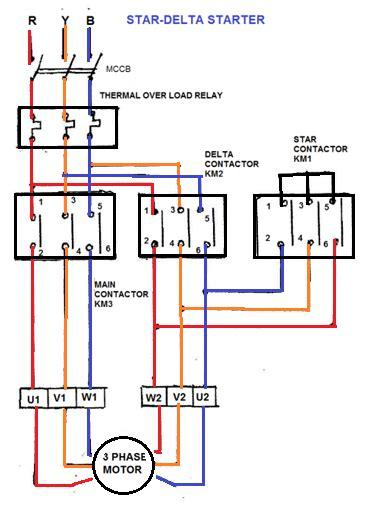 wye start delta run motor wiring diagram get free image
