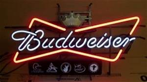 Budweiser Beer Outdoors Neon Sign