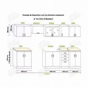 Dimension Standard Meuble Cuisine : meuble de cuisine en kit pas cher id es de d coration int rieure french decor ~ Teatrodelosmanantiales.com Idées de Décoration