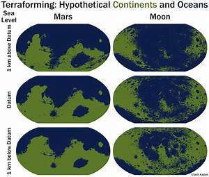 geography - How do I calculate sea level on a planet with ...